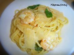Lemon Chilli Prawn Spaghetti - ThermOMG