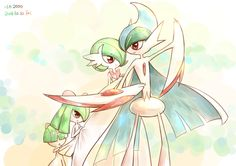Ralts, Kirlia, Mega Gardevoir, and Mega Gallade