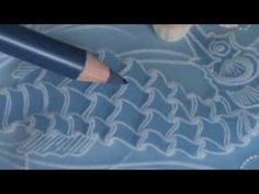 Video Class 4   How to Colour Parchment using Blendable Pencils Seahorse...