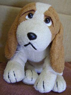 """Vintage Russ Berrie PATCH Puppy Dog 11"""" Plush Toy Stuffed Animal Basset Hound   #RussBerrieUKLTD"""