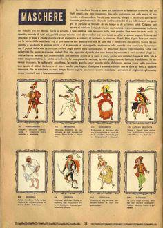Maschere Favole Costumi Personaggi, Ed. MAP, Roma, anni '50 - Ed. Lampo 1961