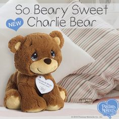 "53bfeb8a9c7e ""So Beary Sweet - Charlie Bear"" Stuffed Animal, 15 Inches. Precious Moments  ..."
