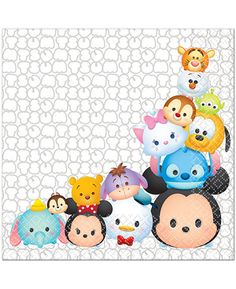 Pack contains 16 paper napkins, inches (folded). Great for the Disney and Tsum Tsum fans! These officially licensed Tsum Tsum Disney Tsum Tsum Party, Disney Tsum Tsum, Tsum Tsum Wallpaper, Disney Wallpaper, Imprimibles Paw Patrol, Tsumtsum, Fun Express, Disney Birthday, 4th Birthday