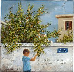 Κυριακή στην #Ianos_Gallery Greek Paintings, Greek Art, 10 Picture, Four Seasons, Love Art, Athens, Contemporary Art, Greece, Sunday
