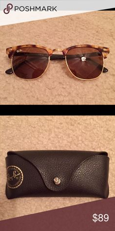Ray Ban sunglasses Brand new, never worn, tortoise shell plastic frames, brown lenses Ray-Ban Accessories Glasses