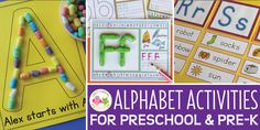 FREE list: 200+ Materials for Preschool Letter Activities and Collages - Early Learning Ideas Preschool Letter Sound Activities, Preschool Routine, Letter Activities, Montessori Activities, Preschool Alphabet, Literacy Games, Preschool Literacy, Preschool Worksheets, Preschool Ideas