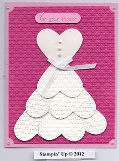 Cute bridal shower card idea. I really like the look of the dress.