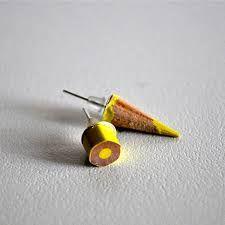 Risultati immagini per orecchini con matite colorate