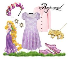 """Rapunzel Inspired"" by wilderlace on Polyvore featuring Rare London, Irregular Choice, disney, rapunzel, disneybound, tangled and disneycharacter"