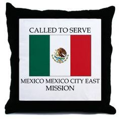 LDS Mission Pillow - Mexico Mexico City LDS Mission Gifts. find this and other LDS Mission Gifts at www.ldsmissiongifts.com or www.latterdaymissiontshirts,com  ...