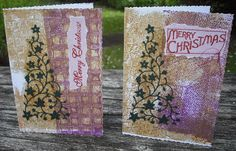 Christmas Cards and FREE classes Gelli printed backgrounds and gelli printed tape  If you'd like some further card-making and seasonal inspiration, check out these 3 FREE classes!