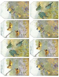 Sweet Birds & Blossoms - 3 different tags