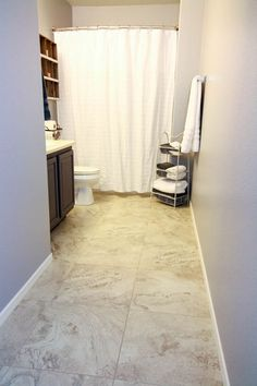 Update a Boring Bathroom With Beautiful Vinyl Tile