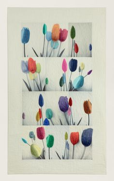 Les tulipes V quilt by Cosabeth Parriaud (France). Patchwork Europe.