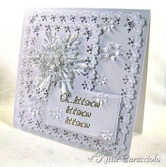 Sparkly Glass Snowflakes by kittie747 - Cards and Paper Crafts at Splitcoaststampers