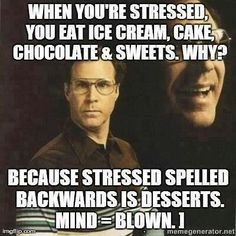 When stressed eat desserts