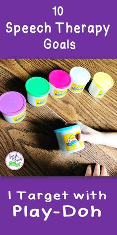How I use Play-Doh in speech therapy to target a variety of speech & language goals!