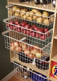 Baskets for fruit/veggies.