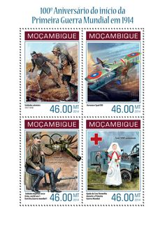 MOZ 14130 aWorl War I (Aircraft Spad XIII, The Tsar Tank, Ford T ambulance)