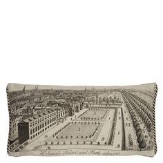 Royal Collection Royal Park Ecru Cushion | Designers Guild