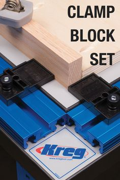 The Clamp Block Set lets you quickly and accurately register your workpieces and align your project for quick and easy squaring. Especially useful for cabinet face-frame construction. Made from durable, impact-resistant plastic.