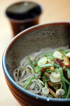 Sansai Soba, Japanese Soba Noodles with Mountain Vegetables|山菜そば