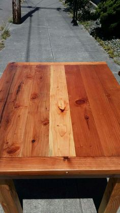Resteraunt table redwood
