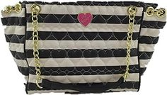 Betsey Johnson EW Be Mine Stripe Chain Weave Tote *** Learn more by visiting the image link. (Note:Amazon affiliate link) #CoolandAffordableWatches