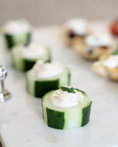 5 Budget Friendly Appetizers - Cucumber Cups by PartiesforPennies.com #appetizers #recipes #partyplanning