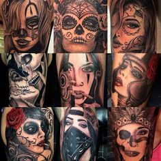 Works done in Thank you for all these great tattoo projects :) Face Tattoos For Men, Girl Face Tattoo, Sleeve Tattoos For Women, Great Tattoos, Small Tattoos, Girl Tattoos, Tattoos For Guys, Tattoo Women, Tatoos