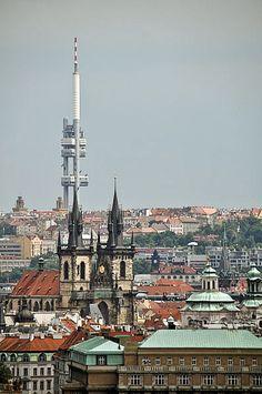 Zizkov Television TV Tower, Prague, Czech Republic