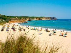 Beach Praia dos Rebolinhos, Algarve, Portugal