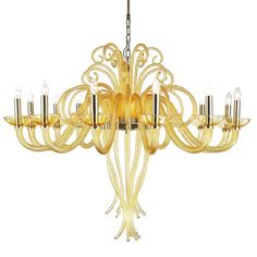 made of best quality Extremely decorative chandelier brings to mind underwater forms. Chromed gold construction gives and look. Perfect finishing, easy montage and design look are one of the advantages of this product. Chandelier Lamp, Decorative Chandelier, Lamps, Ceiling Lights, Ceiling Fans, Chrome, It Is Finished, Blown Glass, Luxury