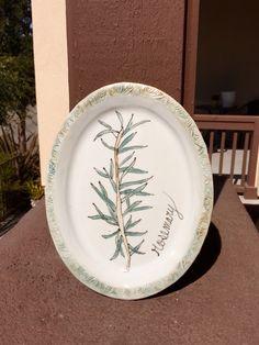 Rosemary!!! Ceramic plate