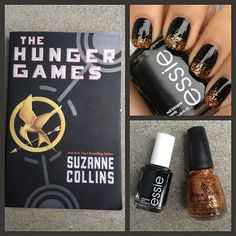 Warm French Onion Soup: What I Blog About When I Blog: NOTD: Girl On Fire Nails (The Hunger Games Inspired)