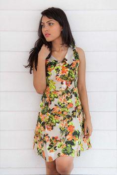 Short Floral Dress Hello Summer <3