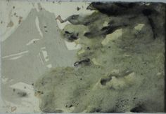 Untitled - foreign at home serie 2011 Acrylic, china ink and watercolor on paper 15,5 x 10,5 cm