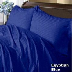 Purple Solid /& Striped Bed Sheet Set All Size Deep Pkt 1000 TC Organic Cotton