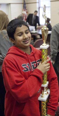 Mentor Shore Middle School classmates wish Vishnu Nistala luck as he heads to National Spelling Bee