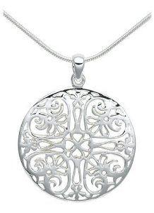 "Amazon.com: Sterling Silver Filigree Circle Pendant, 18"": Jewelry"