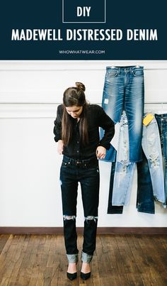 Here are all the tips and tricks you need for the most perfectly distressed pair of jeans of your life. // #DIY