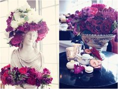 Bold Stylized Creative from Oudalova Events and Design Reception Decorations, Wedding Blog, Floral Wreath, Events, Wreaths, Creative, Design, Floral Crown, Door Wreaths