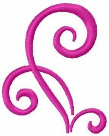 Swirl decoration free embroidery design 13. Machine embroidery design. www.embroideres.com