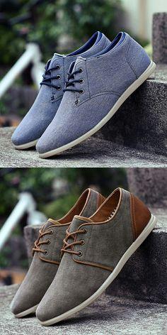innovative design a6681 a45d6 US  23.2 Prelesty Vintage Old Fashion Canvas Shoes For Men Comfortable  Denim Jeans Shoes Men Shoes