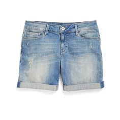 Denim shorts are a summer wardrobe staple! Wear them with sneakers for a day of errands or with gladiator sandals and a flowy blouse for a boho-inspired vibe. (Stitch Fix Sally Cuffed Short)