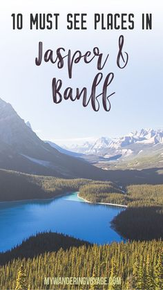 10 places you must stop between Jasper and Banff, Alberta – No Canadian trip is complete without experiencing Jasper National Park and Banff National Park. Here's what you should see in Canada's top tourist destination. | My Wandering Voyage travel blog