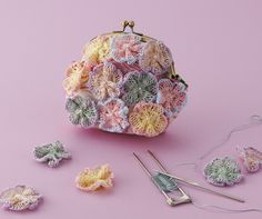 Hairpin lace flower photo tutorial