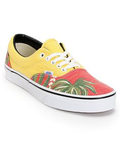 Whether its to venture to a land far, far away, or to head to the beach, trust that the Vans Era Van Doren Hawaiian print shoes will take you there. Coming in a red and yellow canvas upper, these shoes feature a Hawaiian print exterior and black padded in