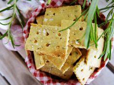 Antipastaa: Valkosipuli-rosmariini suolakeksit (gluteeniton, v...