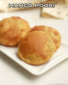 Mango poori, in Mangalore buns style. A delicious poori with the subtle flavour of ripe mango. Quick video, step by step pictures. Food Network Recipes, Cooking Recipes, Naan Recipe, Paratha Recipes, Coconut Chutney, Mango Recipes, Bun Styles, Instant Recipes, Best Comfort Food